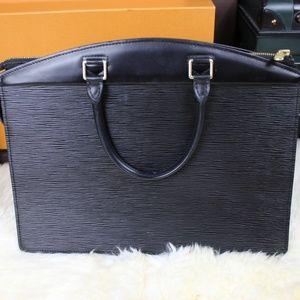 Louis Vuitton Business Handbag Purse Bag Authentic